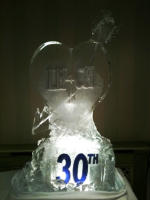 HEART AND ARROW ICE SCULPTURE