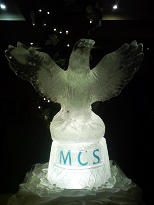 Spread Eagle Ice Sculpture on Plinth