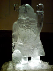 Xmas Ice Sculpture Santa Luge