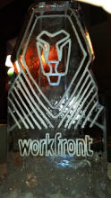 Workfornt Engraved Company Ice Logo