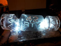 Christmas Cracker Ice Sculpture Luge