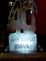BIRTHDAY NUMBERS ICE SCULPTURES