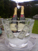 Champagne Bucket Ice Sculpture