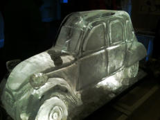 Citroen 2CV Ice Sculpture Luge