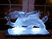Dragon Ice Sculpture Luge