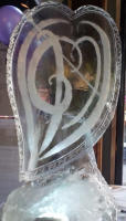 SPECIALLY DESIGNED ICE HEART VODKA LUGE