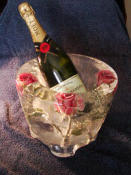 Ice Champagne with Inlaid Flowers
