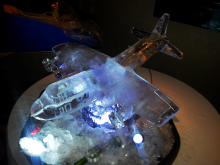 Hercules Aeroplane Ice Sculpture