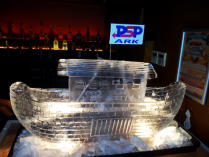 Noah's Ark Boat Ice Sculpture