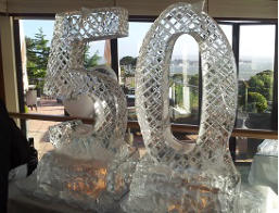 Celebration Numbers Ice Sculptures