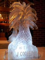 Palm Tree Ice Sculpture Vodka Luge
