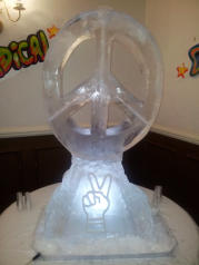 CND Peace Sign Ice Sculpture