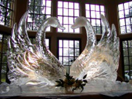 Stylised Swans Wedding Sculpture