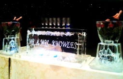 1 METRE ENGRAVED TABLE TOP ICE BAR