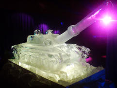 Tank Ice Sculpture