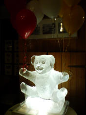 Teddy Bear Ice Sculpture
