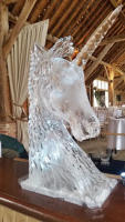 Unicorn Ice Sculpture